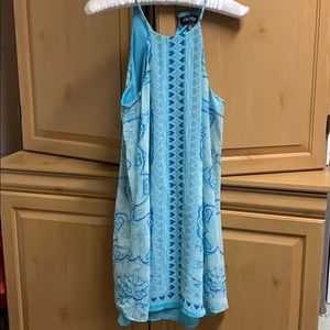 flowing turquoise sun dress